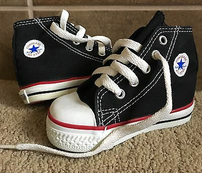 Vtg Converse All Star Chuck Taylor Black High Top Made In The USA Toddler Sz 4.5
