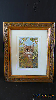 4 Limited Edition Cat Prints By Celia Pike