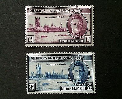 Gilbert and Ellice Islands 1946 SG 55-56 MH