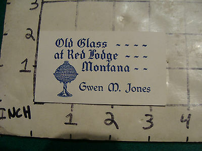 Vintage paper: OLD GLASS at Red Lodge Montana Gwen M Jones
