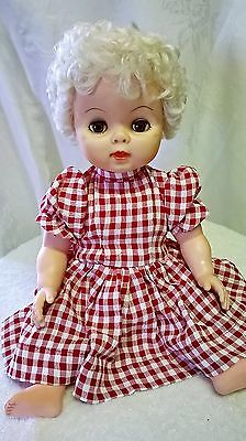 "Early 1960s Drink and Wet Baby Doll Sleeper Eyes Jointed 19""  Vintage"