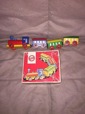 HEROS Wooden Train Made In Western Germany With Box