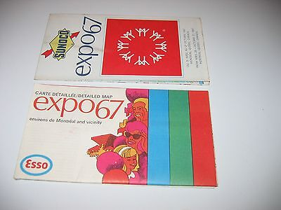 Sunoco And Esso Detailed Map, Expo 67,  Quebec