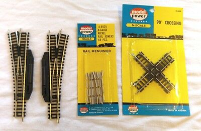 1 Pair of Roco Left & Right Hand Points & 1 Model Power Crossover & Joiners Ng
