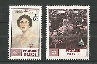 Pitcairn Islands 1990 Queens Mothers 90Th Birthday Sg,378-379 Um/m Nh Lot 1489A