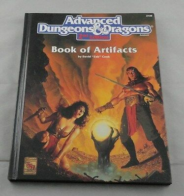 Advanced Dungeons & Dragons Book of Artifacts TSR2138 2nd EdHardcover AD&D