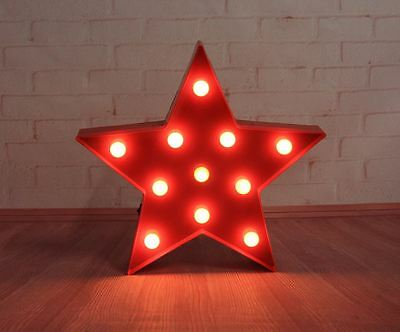 Red or Blue Star Light With 11 LED White Lights Christmas Decoration