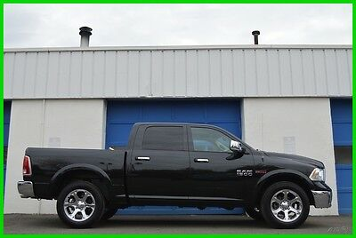 2015 Ram 1500 Laramie Crew Cab 3.0L EcoDiesel 4X4 4WD Loaded Repairable Rebuildable Salvage Runs Great Project Builder Fixer Easy Fix Save