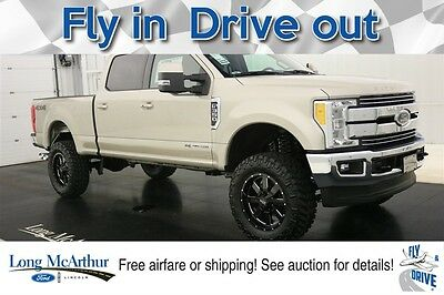 2017 Ford F-350 LIFTED LARIAT SUPER DUTY 4X4 CREW CAB MSRP$83365 4WD 4 DOOR POWER STROKE TURBO V8 DIESEL NAVIGATION MOONROOF LEATHER REMOTE START