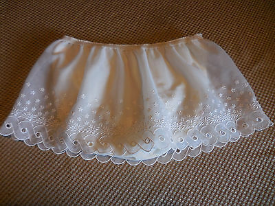Vintage Panties With Attached Slip   White