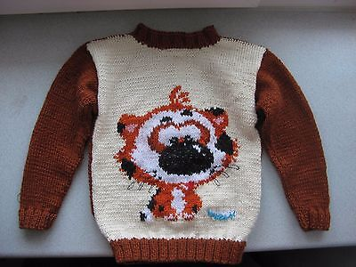 Hand knit kids sweater 3 or 4 years Animal sweater, Boys and Girls sweaters