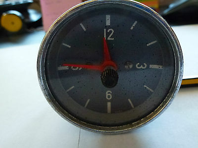 Vdo German Classic Clock Gauge With Grey Background And Chrome Trim