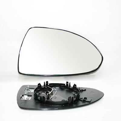 New Right Side Door Wing Mirror Heated & Base Glass For Opel Vauxhall Corsa D 06