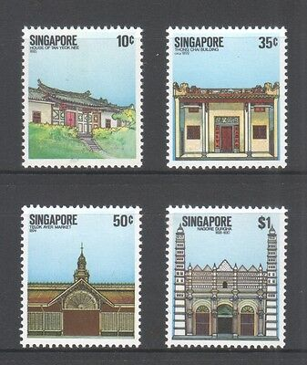 Singapore 1984 National Monuments  Comp. Set Of 4 Stamps Sc#438-441 In Mint Mnh