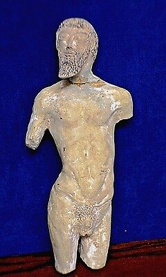 Ancient Greek Etruscan Satyr Figurine Clay Statue