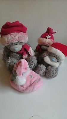 Job lot of winter xmas themed Me To You soft toy teddies