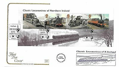 Gb 2013 Classic Locomotives Of Northern Ireland Cotswold Official Fdc