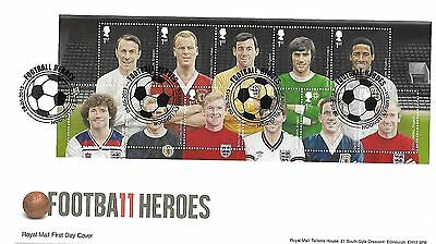 Gb 2013 Football Heroes Miniature Sheet On Royal Mail Cover
