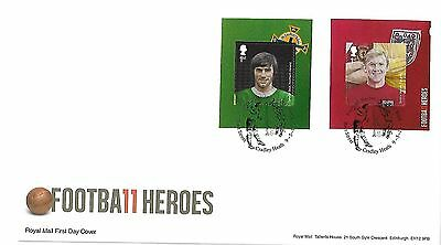 Gb 2013 Football Heroes Retail Nvi Booklet Stamps On Fdc, Special Postmark