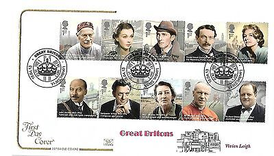 Gb 2013 Great Britons On Cotswold Fdc With Special Handstamp