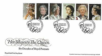 Gb 2013 Royal Portraits Fdc With Special Handstamp On Royal Mail Envelope