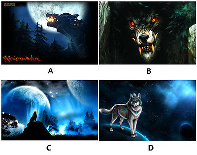 Wolf mousepad Wolfs mouse pad notebook computer keyboard desk chair mouse mat