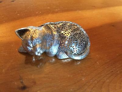Air France Concorde Christofle Silver Cat Figurine 1980's 2