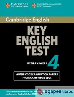 Cambridge Key English Test 4 Student's Book With Answers. LIBRO NUEVO