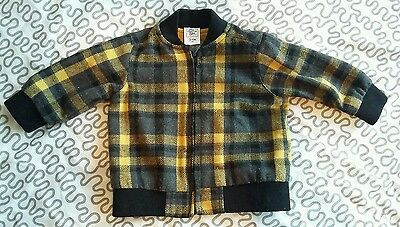 Charlie&Me, Baby Boy, Warm & Trendy Yellow/Grey Check Jacket 3-6 Months