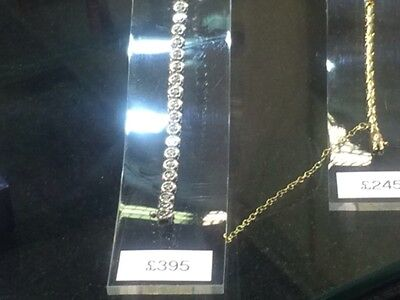 9ct white gold & diamond bracelet . 48 Diamonds .. Stunning .. 100% Quality ..