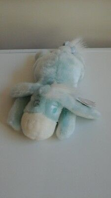 Wt Small pale blue winter sparkles eeyore soft toy teddy