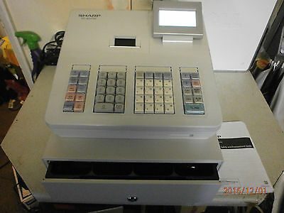 New Boxed Sharp XE-A207W Electronic Cash Register in Light Grey