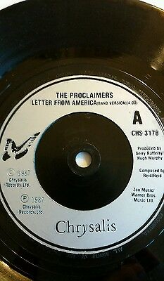 """The Proclaimers """"Letter from America """" 1987 7'single"""