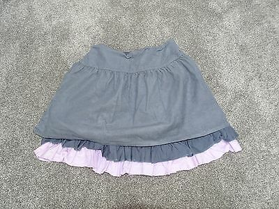 Lovely M&S Autograph girls Grey Layered Cord Skirt age 5-6 years