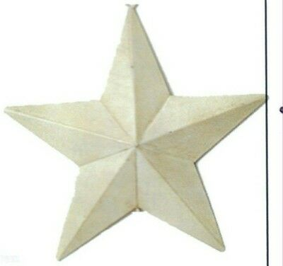 """5.5x5.5"""" Rustic Primitive Country White Metal Barn STAR Sign Vintage Tin Decor"""