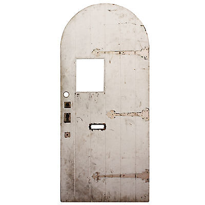 "Reclaimed 36"" Antique Arched Plank Door, NED616"