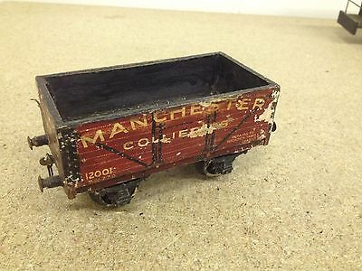 O Gauge Wagon. CCW Vintage Wooden Kit 1950? Built Manchester Collieries