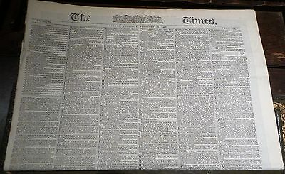 Victorian newspaper The London Times june 1st  1869