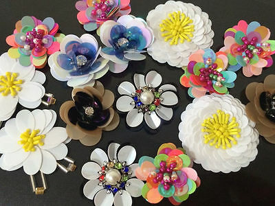 Patches Flower Applique sequins clothing accessory embroidery for jeans sweater