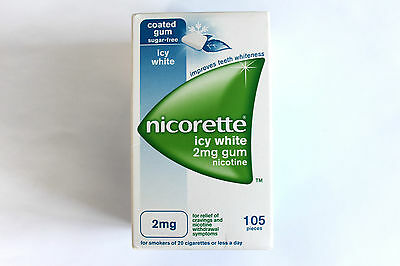 Nicorette Icy White 2mg Sugar-Free Coated Gum - 105 Pieces