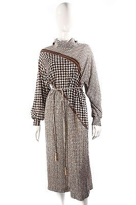 Liola  1980's brown and cream dress size 14/16