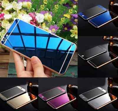 Mirror Effect Skin Tempered Glass Cover Screen Protector For iPhone 5 6 6S Plus