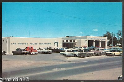 New Mexico, Las Cruces - Police Station & 60s Cars