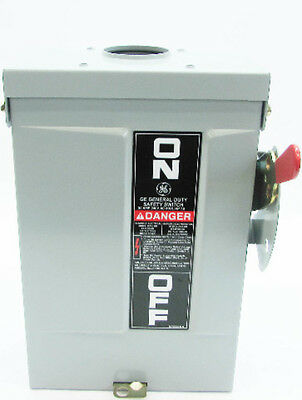 New GE TG3221R 30 Amp 240V General Duty Fusible Safety Switch 3R Outdoor no box