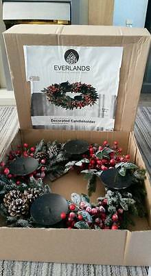 Large Christmas Table Centerpiece Candle Brand New