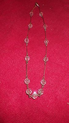 vintage necklace with crystal