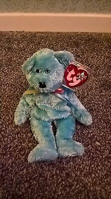 TY Beanie Babies Sherbert the Bear Blue