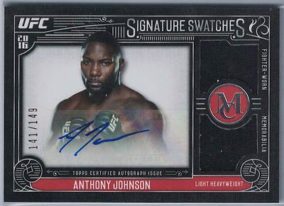 2016 Topps Ufc Museum Collection Dual Relic Au Anthony Johnson #141/149