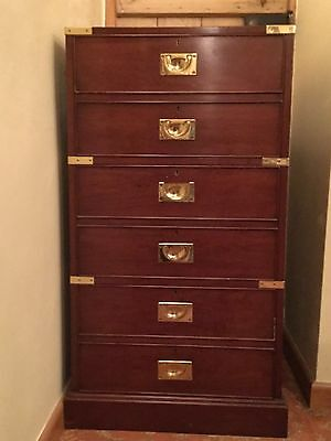 Military Style three drawer filing cabinet