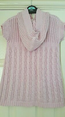 Girls baby pink short sleeve long cardigan from M&S. Size 2 to 3 years